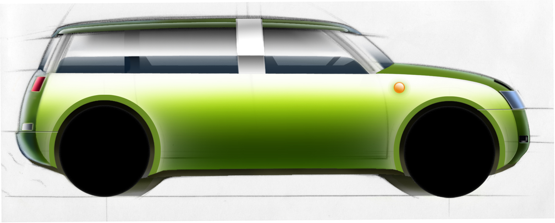 BAMBOO CAR SIDE VIEW RENDERING